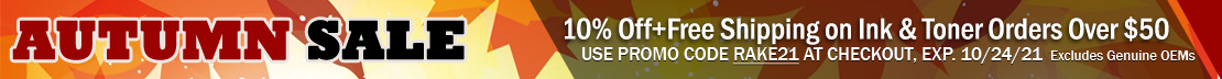 Get 10% Off plus Free Shipping on Compatible and Remanufactured Ink & Toner Cartridge Orders Over $50 (excludes OEM)