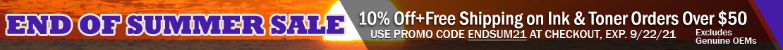 10% Off + Free Shipping on Ink & Toner Orders Over $50 (excludes OEMs)