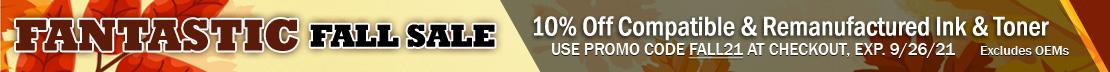 Save 10% on Compatible & Remanufactured Printer Ink & Toner Cartridges (excludes OEM)