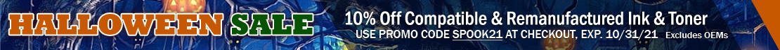 Save 10% on Compatible and Remanufactured Ink and Toner Cartridges (excludes OEM)